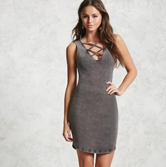 Gray Bodycon Dresses